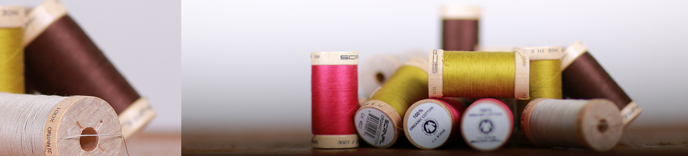 Commercial photography client's products being cotton reels
